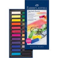 Faber-Castell - Soft pastel crayons mini, box of 24