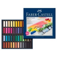 Faber-Castell - Soft pastel crayons mini, box of 48