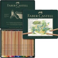 FaberCastell  Colour pencil Pitt Pastel tin of 24 112124