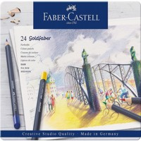Faber-Castell - Goldfaber colour pencil, tin of 24 (114724)