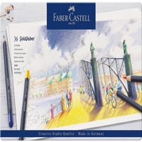 Faber-Castell - Goldfaber colour pencil, tin of 36 (114736)