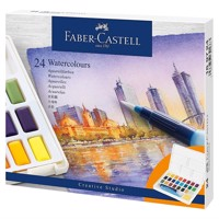 Faber-Castell - Watercolours in pans 24ct set (169724)