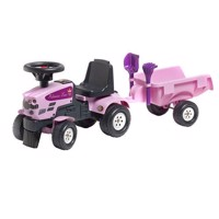 Falk Tractor with trailer-pink