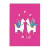 Fleece blanket Lama