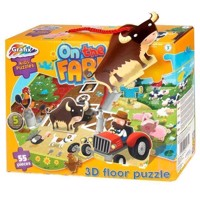 Floor puzzle Farm 3D, 55st