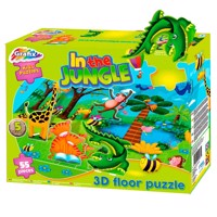 Floor puzzle Jungle 3D, 55st