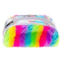 Fluffy rainbow case