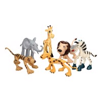 Funny Wild Animal Play Set, 6 Pcs