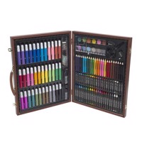 Giant Wood Box with 153pcs Colouring Pencils and Crayons