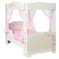 Girls rose wooden junior bed 140Cm