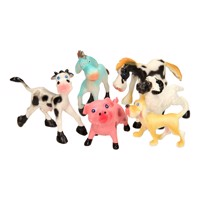 Guitige Farm Animals Playset, 6Pcs