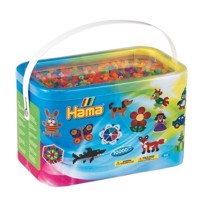 HAMA Beads - Midi - 10.000 Beads in Bucket - Neon Mix