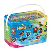 HAMA Beads - Midi - 10.000 Beads in Bucket - Pastel Mix