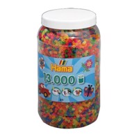 HAMA Beads - Midi - Beads in bucket, Neon, 13.000 pc (211-51)