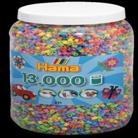 HAMA Beads - Midi - Pastel Mix, 13.000 pcs (211-50)