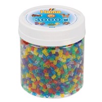 Hama Ironing Beads in Pot  Transparent Mix 53, 3000pcs