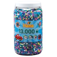 Hama Ironon Beads in Pot  Color Mix 69, 13,000 pcs