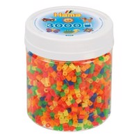 Hama String Beads in Potje  Neon Mix 51, 3000pcs
