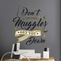 Harry Potter MUGGLES QUOTE Wallstickers