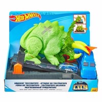Hot Wheels City  Crushing Triceratops Playset