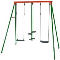 Hörby Bruk classic metal swing set green