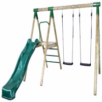 Hörby Bruk wooden active swing set w rollercoster