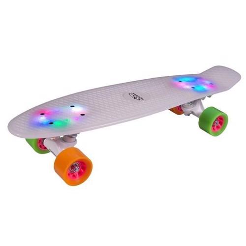 Hudora Skateboard Retro with Light