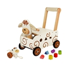 I39m Toy Walking and Pushing Carriage Sheep with Pulling Figure