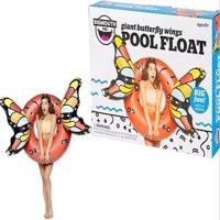 Inflatable Giant Red Butterfly Wings Pool Float