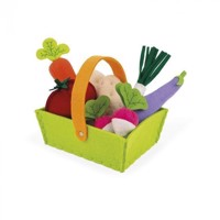 Janod - Fabric Basket With 8 Vegetables