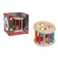 Janodi Wood Shape Sorter Drum