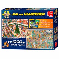 Jan van haasteren puzzle 2 in 1 shopping for the holidays