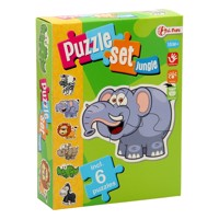 Jungle puzzle set with 6 Puzzles