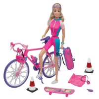 Kari michell doll on bicycle holliday