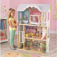Kidkraft kaylee wooden dollhouse with furniture