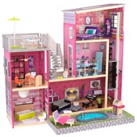 Kidkraft luxury uptown mansion dollhouse with furniture