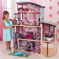 Kidkraft sparkle mansion wooden dollhouse with furniture