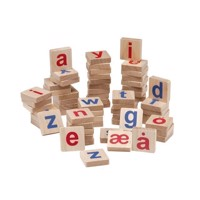 KREA  Wooden magnets, small letters Scandinavian alphabet