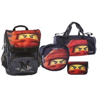 LEGO - Maxi School Bag Set (4 pcs) - Ninjago - Kai of Fire