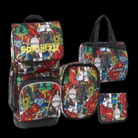 Lego optimo schoolbagset 4 pcs ninjago comic