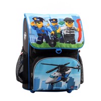 Lego Schoolbag Optimo City Police Chopper 2 Pcs