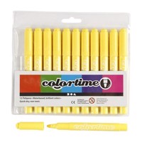 Lemon yellow Jumbo markers, 12pcs