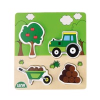 Lena wooden puzzle tractor