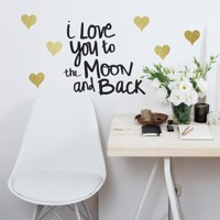 Love you to the moon Wallstickers