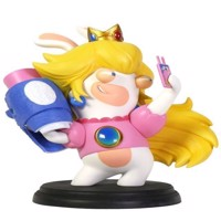 Mario  Rabbids Kingdom Battle 6 Inch Peach Rabbid Figurine - PC