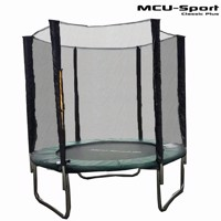 Mcu sport classic plus 1,8 M trampoline w safety net  green