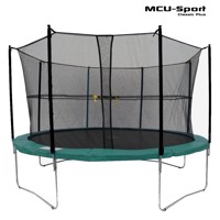 Mcu sport classic plus 3,7 M trampoline w safety net  green