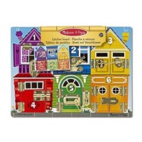 Melissa  Doug  Latches Wooden Activity Board 13785
