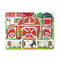 melissa doug magnetic hide seek board farm