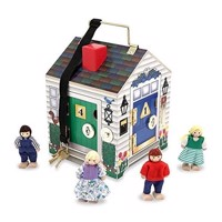 Melissa  Doug  TakeAlong Wooden Doorbell Dolls House 12505